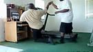 Man falls off treadmill