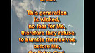 Humble or arrogant – August 30, 2011