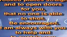 Be encouraged – April 23, 2012