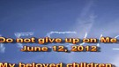 Do not give up on Me – June 12, 2012
