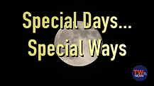 Special Days…Special Ways