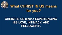 Christ In Us Live Training