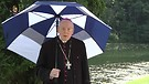 By the lake at the Hermitage in Wisconsin, USA His Excellency Bishop Jean Marie, snd speaks to you.