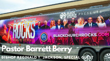 Bishop Reginald T. Jackson on the Black Church Rocks Bus with Pastor Barrett Berry
