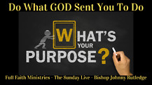 Do What GOD Sent You To Do!