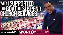 How TB Joshua Prophesied CHURCH CLOSURE Over CORONAVIRUS!!!