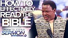 HOW TO EFFECTIVELY READ THE BIBLE!!! | TB Joshua...